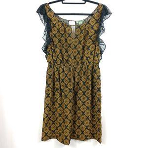 Anthropologie Maple Silk Dress w/ Pockets